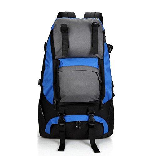 Outdoor Rucksack Oxford Schulter Tasche Bergsteigen Reisen Rucksack 40L Blue