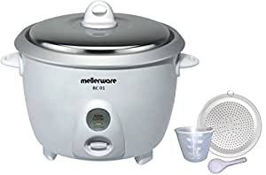 Mellerware RC 01 1.8 –Litre Drum Type Rice Cooker (White)