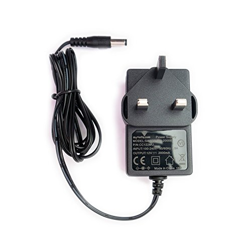 MyVolts 12V power supply adaptor compatible with Linsar 16LED905T TV - UK plug