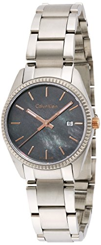 Calvin Klein Women's Quartz Watch with Black Dial Analogue Display Quartz Stainless Steel K5R33B4Y