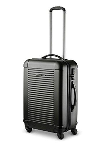 Trolley-Koffer, 65x46x25cm, XXL-Light, TSA, Ital. Design, schwarz od. silber