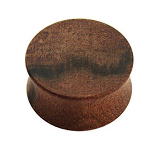eeddoo Flesh Tunnel Plug Braun Tineo Holz 14 mm