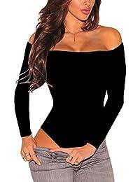 LRUD Mujer Sexy lencería Bodies Ropa de Dormir Mono Slim Body Leotardo Bodycon Jumper