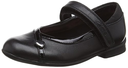 Clarks Dolly Babe Inf, Mädchen Sneakers, Schwarz (Black Leather), 26 EU (8.5 Kinder UK)