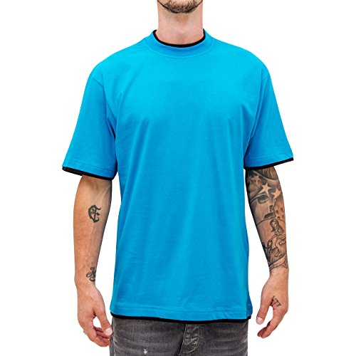 Dangerous DNGRS Uomo Maglieria / T-shirt Two Tone Regular Blu