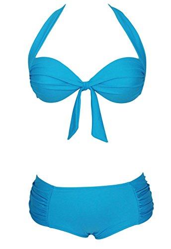 Pinkyee Damen Bikini-Set Blau