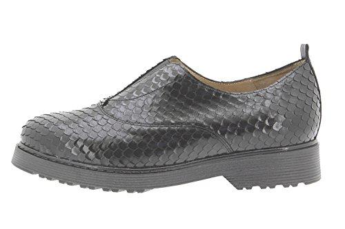 Scarpe donna comfort pelle PieSanto 9653 comfort larghezza speciale Negro
