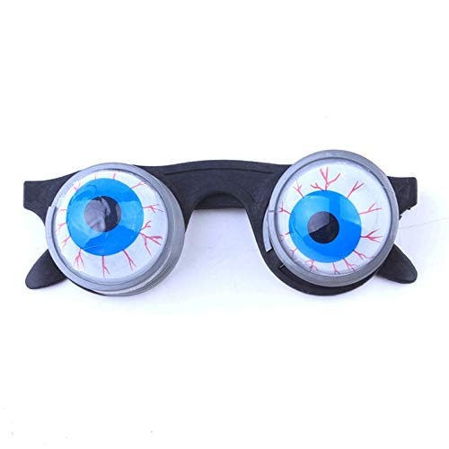 Pobooth Props - Funny Halloween Decoration Pop Out Eye Ping Eyeball Glasses Horror Terror Scary Party Prank Joke - With Halloween Glass Funny Squishy Gift Glass Sunglass Eyes Glass Funny Glas