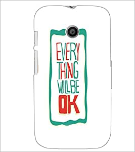 Printdhaba Quote D-4241 Back Case Cover For Motorola Moto E