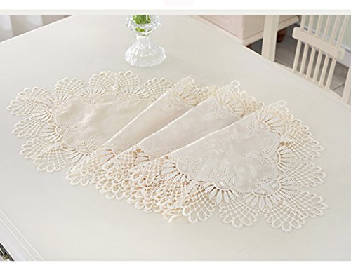 Table Runner Beige Dentelle Table Basse TV Meuble Simple Moderne Rural Continental Table Runner ( taille : 40*220cm )