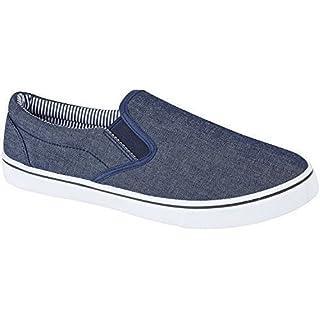 Leinwand-Slipper für Herren, Sommerschuhe, Blau - denim-blau - Größe: 40 / 7 UK