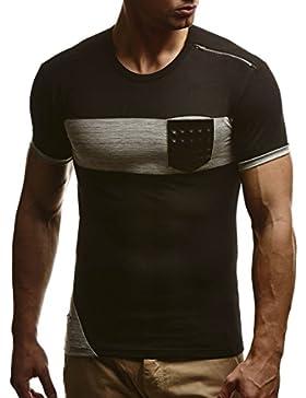 LEIF NELSON Herren T-Shirt Sweatshirt Slim Fit LN780