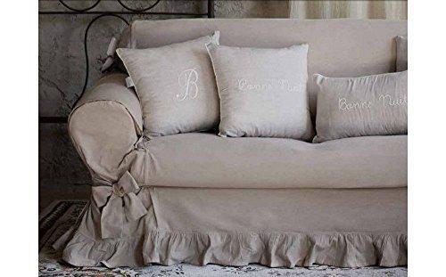 Divani Shabby Chic Ikea : Blanc mariclo copridivano shabby chic 2 posti colore beige shop