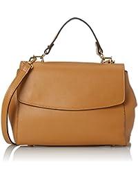 CTM Pochette à main pour femme modele Saffiano, ceinture d'epaule dans l'interieur reglable, en cuir veritable fait en Italie - 29x20x9 Cm