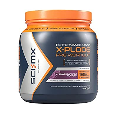 SCI-MX Nutrition X-Plode Pre-Workout Supplement Drink, Caffeine Based, 400 g, 20 Servings