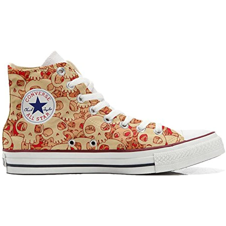 mys Converse All Star Chaussures Personnalisé Imprimés (Produit Artisanal) Artisanal) Artisanal) Orange Skull - B06X956CNH - 773e2c