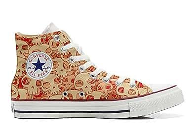 Converse All Star personalisierte Schuhe (Handwerk Produkt) Orange Skull  43 EU