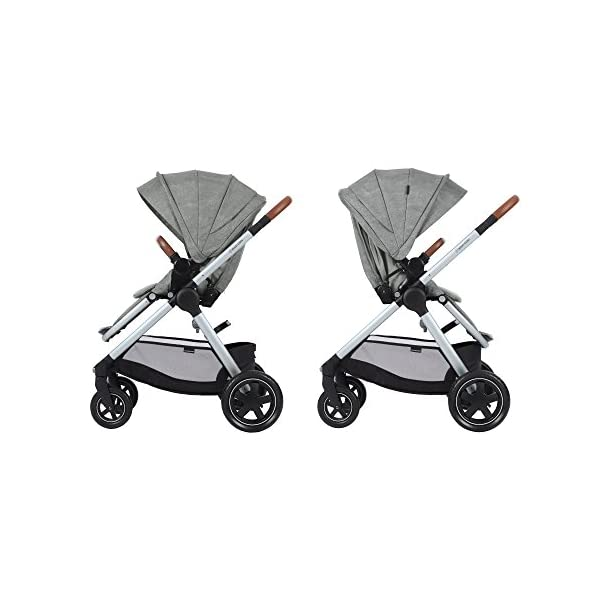Maxi-Cosi Adorra Baby Pushchair, Comfortable and Lightweight Stroller with Huge Shopping Basket, Suitable from Birth, 0 Months - 3.5 Years, 0-15 kg, Nomad Grey Maxi-Cosi Cocooning seat - the luxury of a large padded seat for baby Lightweight - a light stroller less than 12kg that makes walking effortless Huge shopping basket - very easy to access 7