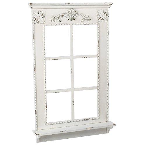 Annastore Deko-Fenster mit Fensterbank im Antik-Finish H 93 cm Deko Fenster Zierfenster