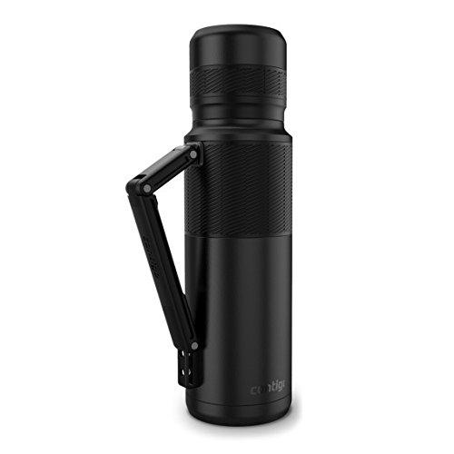 Contigo Thermal Bottle Travel Mug, Matte Black Powder Coated, 40 oz/1200 ml -