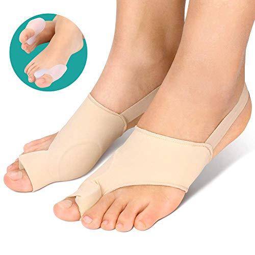 Alluce valgo correttore supporto, tutore per borsite borsite ortopediche protettore con cuscinetto in gel per uso giorno e notte, separatori per alluce raddrizzatore per il trattamento