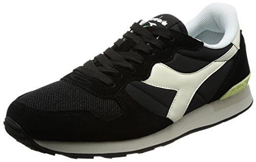 Diadora camaro, sneakers unisex - adulto, nero (nero/bianco sospiro), 42 eu