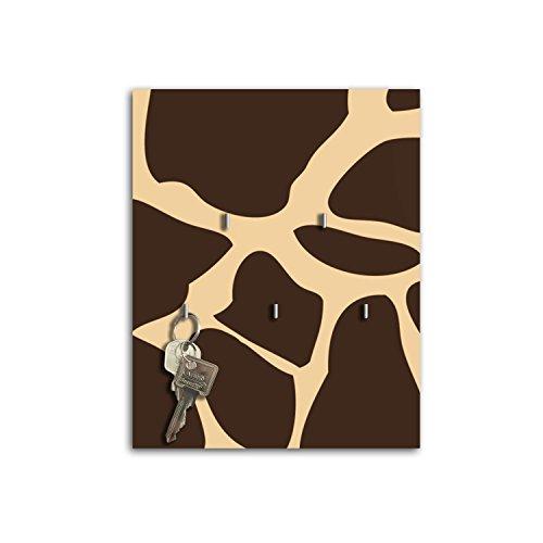 Plaque à clés avec crochets Design Girafe Print Board Clé sb653