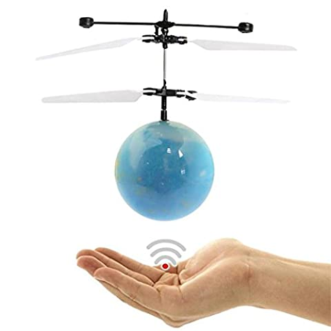 Hand RC Flying Ball, PAK_youth Crystal Flashing LED Light Flying ball RC Toy RC infrared Induction Helicopter for Kids, Teenagers Colorful Flyings for Kid's Toy (C)