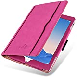 iPad Air 2 Case - The Original Pink & Tan Leather Smart Cover for iPad Air and Air 2 (5th and 6th Gen)