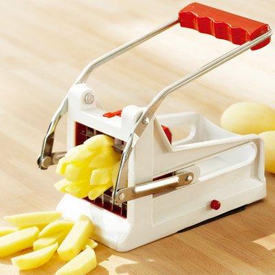 coupe frites avec 2 lames interchangeables en acier 36 ou 64 trous