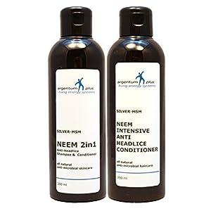 Silber-MSM Neem Anti-Kopflaus Kombi Kit – Silber-MSM Neem 2in1 200 ml + Silber-MSM Neem Intensiver Anti-Kopflaus Conditioner 200 ml