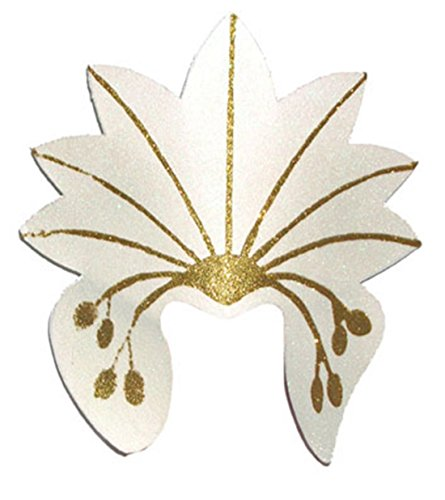 Confettery - Kostüm Accessoire- Samba Kopfschmuck- Brasilianischer Karneval, Erwachsenen Kopfbedeckung, Beige
