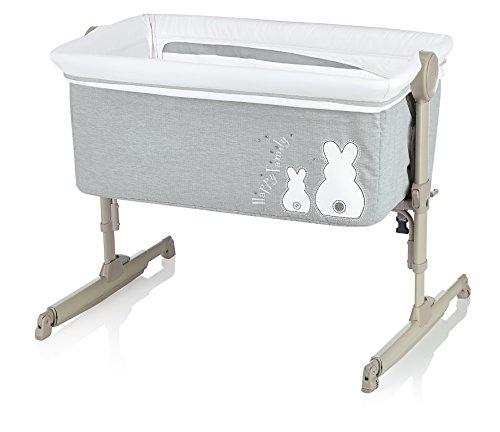 Brevi 855-501 nanna oh culla fianco letto con funzione dondolo, bianconiglio