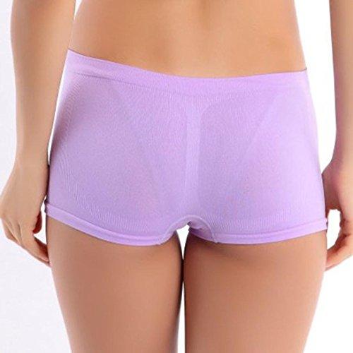 Ineternet Femmes Nylon Sport Ceinture D'entraînement Yoga Maigre Shorts Respirant Violet