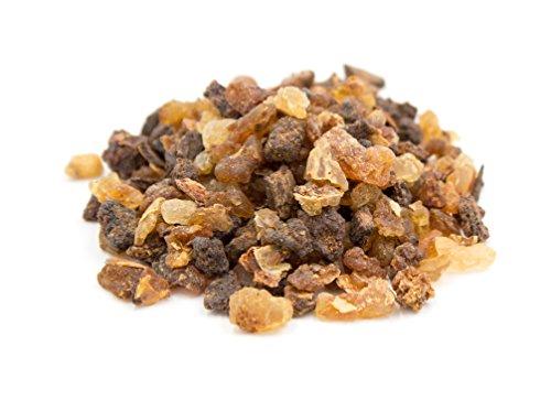 Myrrhe-duft-Öl (Premium Myrrhe zum Räuchern und Verbrennen auf Räucherkohle, reines Harz grob gemahlen, original Luxflair® Räucherwerk in der 50g Packung)