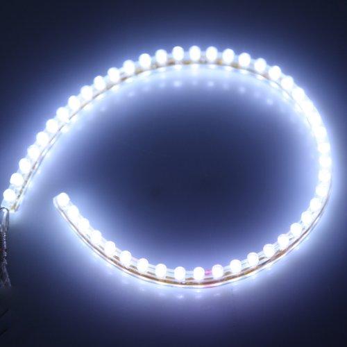 Preisvergleich Produktbild 2x 48 LED Streifen Stripe Lichtleiste für Auto Wasserdicht Weiß auch ideal für Aquarium|Garten 48cm