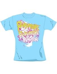 Spikey Logo T-Shirt Skinny - Sky  (L) [UK Import]