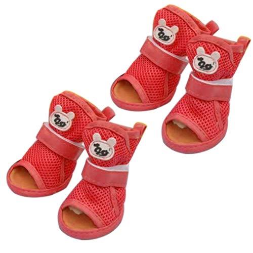 Donad Mode Sommer Hund Sandalen weiche atmungsaktive Mesh Anti-Rutsch-Hund Welpen Schuhe für kleine mittlere Hund Outdoor Pet Boots -