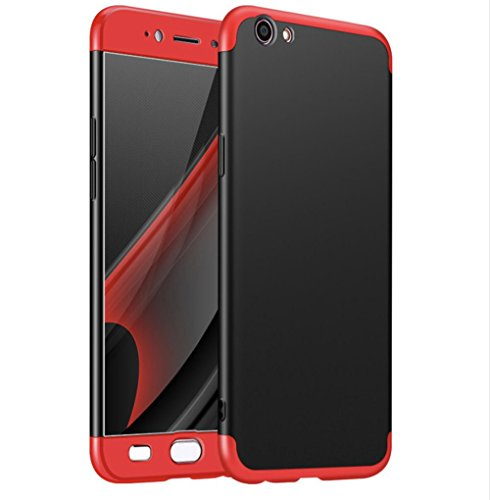 Kapa Double Dip Full Protection Back Case Cover for Vivo V5 / V5S - Red / Black