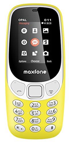 Maxfone Opal O-11 Mobile Phone (Dual Sim_Yellow)