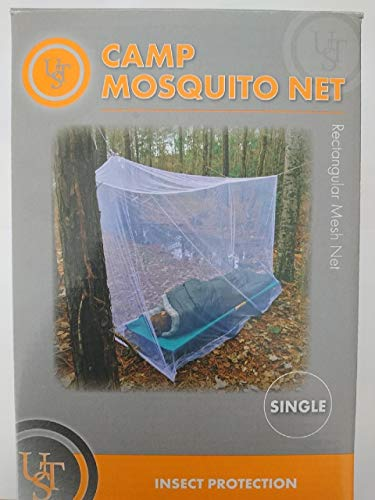Ultimate Survival Technologies Camp Mosquito Net Single Rectangular White Mesh