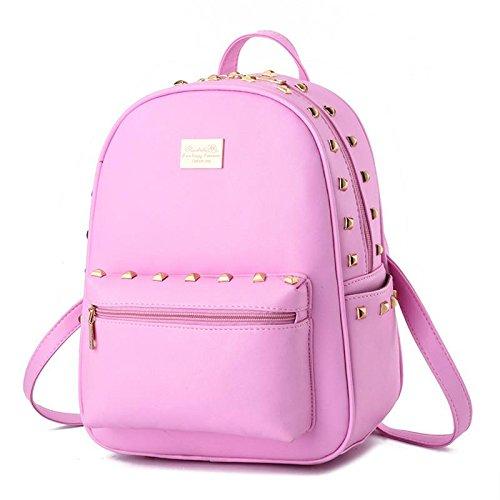 HQYSS Damen-handtaschen Koreanisch Dame Studenten PU Leder Freizeit Schulter Tasche Vertikalschnitt pink