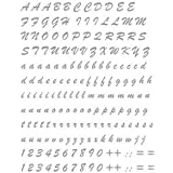 quattroerre 1234Kit letras adhesivas, Plata