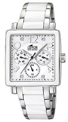 Lotus Ladies 15738/1 Reloj de Pulsera para mujeres Con elementos de cerámica