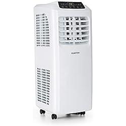 Klarstein Pure Blizzard 3 2G IceLine • Climatiseur • Mobile • Télécommande • 7000BTU • Ecran LED • Kit de Montage pour fenêtre • Efficacité énergétique A • Sleep Mode • Blanc