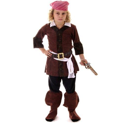 Henbrandt Kinder Karibischer Pirat Kostüm Kinder Party 7-9 Jahre
