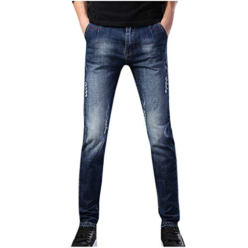 Dwevkeful Herren Destroyed Jeans||Slim Fit| |Skinny| Stretch| |Denim ||Casual ||Stylischer Jogger Hosen Lang Trousers Elastische Sporthose|| Regular