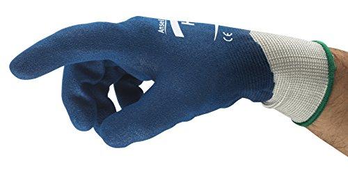 Ansell HyFlex 11-919 Öl abweisende Handschuhe, Mechanikschutz, Blau, Größe 7 (12 Paar pro Beutel) -
