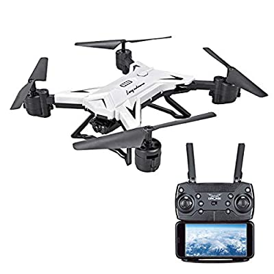 YUYOUG Foldable WIFI FPV RC Quadcopter Drone with 1080P 5.0MP Camera Selfie Drone Gift for Kids Adults Helicopter Hobbyist