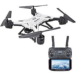 Logobeing Plegable WiFi FPV RC Quadcopter Drone Quadcopter Remoto con Cámara de 5.0Mp / Cámara 1080P HD Transmisión WiFi En Tiempo Real Selfie Drone (Blanco)